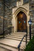 Front steps of a church in Hanover, Pennsylvania.  — ストック写真
