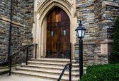Front steps of a church in Hanover, Pennsylvania.  — Stock fotografie