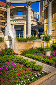 Gardens outside Ceasars in Atlantic City, New Jersey. — Stock Photo