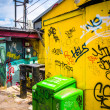 Graffiti tags on the wall of a buildings in Little Five Points, — Stock Photo #52590503