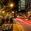 Light trails on a street in Baltimore, Maryland. — Stock Photo #52592095