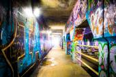 Graffiti inside Krog Street Tunnel in Atlanta, Georgia.  — Stock Photo