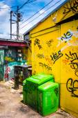Graffiti tags on the wall of a buildings in Little Five Points,  — Stock Photo