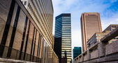 Highrises at Hopkins Plaza, in Baltimore, Maryland. — Stock Photo