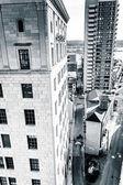Highrises güney sokak harrisbur otoparkta görüldü — Stok fotoğraf