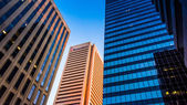 Highrises in downtown Baltimore, Maryland. — Stock Photo