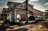 House damaged by Hurricane Sandy, in Point Pleasant Beach, New J — Stock Photo