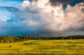 Incredible evening sky over Big Meadows, in Shenandoah National  — Stock Photo