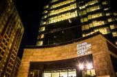 John Hopkins Carey Business School at night in Harbor East, Balt — Stock Photo