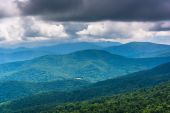 Layers of the Blue Ridge, seen from Skyline Drive in Shenandoah  — Stock Photo