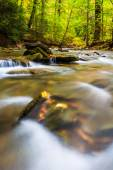 Long exposure of cascades on Tucquan Creek, in Lancaster County, — Stock Photo