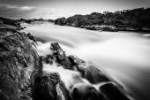 Long exposure of cascades on the Potomac River at Great Falls Pa — Stock Photo