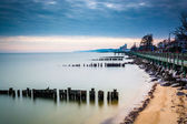 Long exposure of the waterfront in North Beach, Maryland.  — Stock Photo