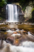 Looking Glass Falls, in Pisgah National Forest, North Carolina.  — Stock Photo