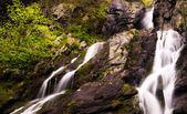 Looking up South River Falls, Shenandoah National Park, Virginia — Stock Photo