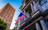 Looking up at Old City Hall in Boston, Massachusetts.  — Stock Photo