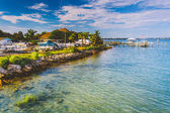 Marina entlang des flusses tolomato vilano beach, florida. — Stockfoto