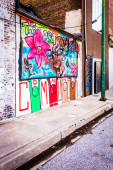 Mural in Old Town Mall, Baltimore, Maryland.  — Stock Photo