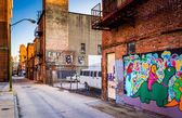 Mural in an alley in Baltimore, Maryland.  — Stock Photo