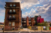Old buildings in Baltimore, Maryland. — Stock Photo