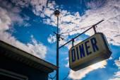 Old diner sign near Thomasville, Pennsylvania.  — Stock Photo