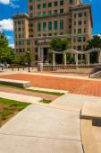 Pack Square Park and the Buncombe County Courthouse in Asheville — Stock Photo