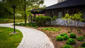 Path outside the Nature Center at Wildwood Park, Harrisburg, Pen — Stock Photo