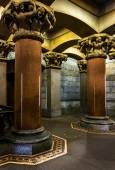 Pillars and interesting architecture inside City Hall, Philadelp — Stock Photo