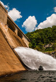 Prettyboy Dam, along  Gunpowder Falls in Baltimore County, Maryl — Stock Photo