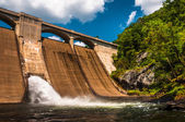 Prettyboy Dam, along the Gunpowder River in Baltimore County, Ma — Stock Photo