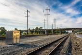 Railroad tracks in Columbia, Pennsylvania.  — Stock Photo