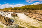 Rapids in the Potomac River at Great Falls Park, Virginia.  — Stock Photo