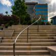 Stairs in a park and highrises in downtown Asheville, North Caro — Stock Photo #52602161