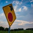 Stop sign in rural York County, Pennsylvania. — Stock Photo #52602559