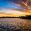 Sunset over the Potomac River and bridges in Washington, DC. — Stock Photo #52605661