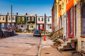 Run-down residential area in Baltimore, Maryland.  — Stock Photo