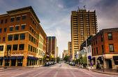 Second Street in downtown Harrisburg, Pennsylvania.  — Stock Photo
