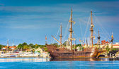 Ship in the harbor at St. Augustine, Florida.  — Foto de Stock