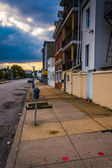 Sidewalk along 20th Street in Baltimore, Maryland.  — Stock Photo