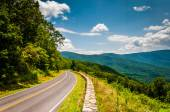 Skyline Drive and view of the Blue Ridge Mountains, in Shenandoa — Stock Photo