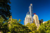 Skyscrapers in Midtown Manhattan seen from Central Park, New Yor — Stock Photo
