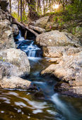 Small waterfall on a stream at Great Falls Park, Virginia.  — Stock Photo