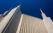 Spires of the Washington DC Mormon Temple in Kensington, Marylan — Stock Photo