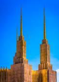 Spires of the Washington DC Mormon Temple, in Kensington, Maryla — Stock Photo
