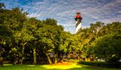 St. augustine lighthouse, in st. augustine, florida. — Stockfoto
