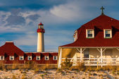 St. Mary by the Sea and the Cape May Point Lighthouse, in Cape M — Stock Photo