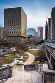 Stairs and buildings in downtown Baltimore, Maryland.  — Stock Photo