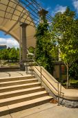 Stairs at Pack Square Park in Asheville, North Carolina.  — Stok fotoğraf