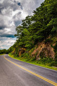 Steep hillside along Skyline Drive in Shenandoah National Park,  — Stock Photo