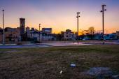 Sunset at Old Town Mall, in Baltimore, Maryland.  — Stock Photo